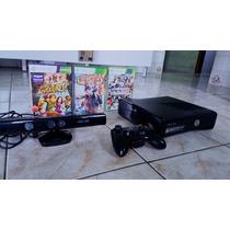 Xbox 360 4 Gb + 1 Controles +kinnect + Cabo Hdmi+ 3 Jogos