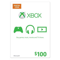 Xbox Live Gift Card $100 - Microsoft Points 100 Dolares Us