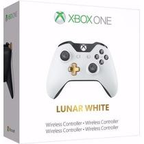 Controle Xbox One - Lunar - Branco - Com Entrada P2 - Novo