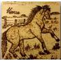 Quadro Pirografado Cavalo