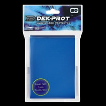 Sleeves P/ Yu Gi Oh E Vanguard Dek Prot - Azul Escuro