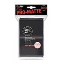 Ultra-pró Pró-matte Sleeves Com 100, Black Sleeve E Outros