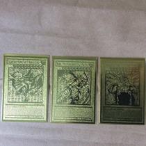 Deuses Egipicios Yu Gi Oh Cards Dourados Banhado A Ouro