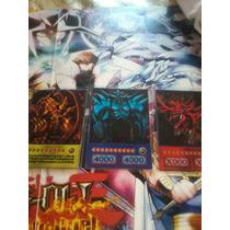 Cartas De Yugioh Na Versão Anime 3 Deuses Egipicios