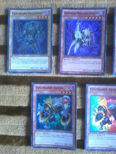 Yugioh Combo Set Deck Com 5 Cards Cartas Evilswarm