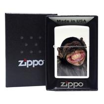 Isqueiro Zippo 28661 Monkey Grin White Matte