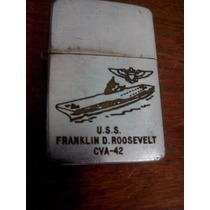 Isqueiro Zippo Usa Comemorativo Uss Fanklin D. Roosevel Cv42