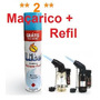 2 Mini Maçarico + Refil De Gás Frete Gratis !!!