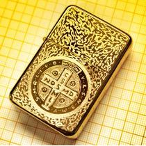Isqueiro Dourado John Constantine Feito À Mão Recarregável