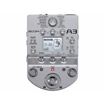 Pedaleira Zoom A3 Violao C Xlr Balanceado Output Stereo Fone