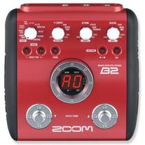 B2 Pedaleira Zoom B 2 P/ Contra Baixo Mult Efeitos Bass B-2