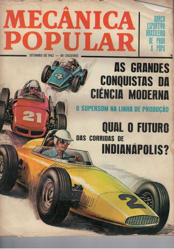 Revista Mecanica Popular -  Setembro De 1962 Original