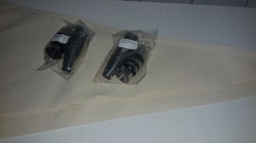 Kit Coeiteiro(2) 16 Bicos Aço Inox - 6,5 Cm 2 Sacos Lona Original