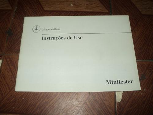 Mercedes-benz Minitester Instruções De Uso 1998 Original