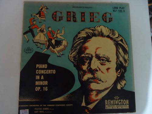 Disco De Vinil Lp Grieg Piano Concert In A Minor  Original