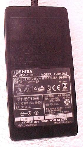 Carregador Adap. Ac  Toshiba Para Notebook Pa2450u Original