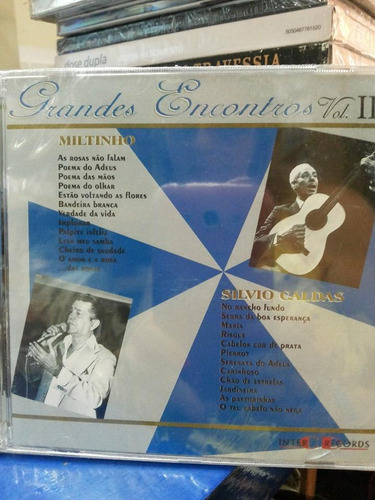 Cd Grandes Encontros Vol Ii Miltinho E Silvio Caldas Original