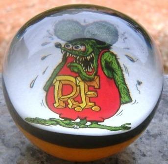 Manopla Ratfink Oldscool Rat Rod, Hotrod, Vintage, Pinstripe