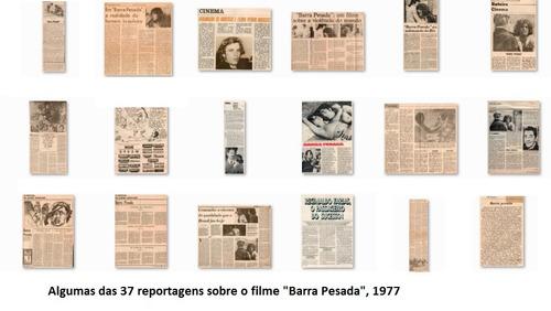 Lote De Reportagens Cinema Nacional - Barra Pesada - 1977 Original