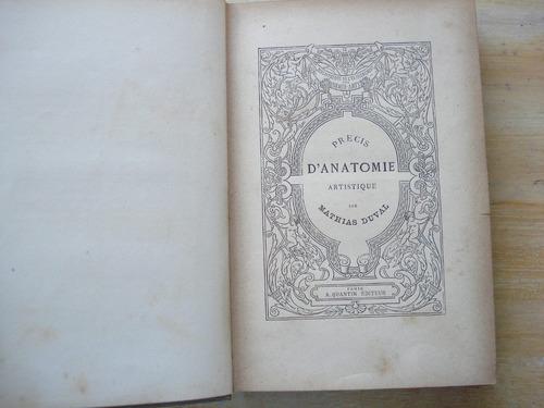 Livro Précis D Anatomie À L Usage Des Artistes Mathias Duval Original