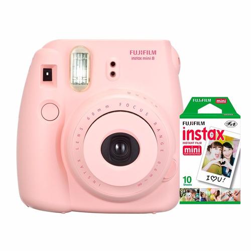 Câmera Instantânea Fujifilm Instax Mini 8 Rosa + 10 Fotos