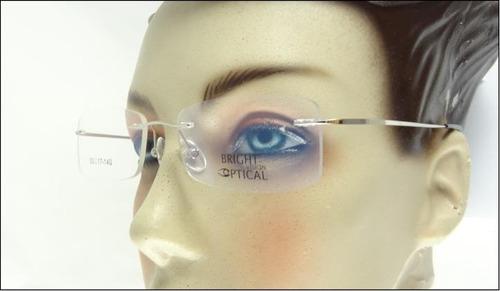 Comprar Armação Prata Óculos De Grau Sem Aro Feita De Titanium A408 ... 6c25caa483