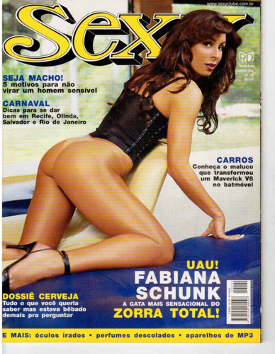 Revista Sexy - Fabiana Schunk / Exemplar  Novo Original