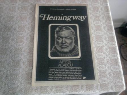 Encarte Anos 70 - Ernest Hemingway - A Festa Acabou Original