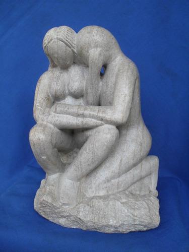 Escultura Em Pedra Sabão Original