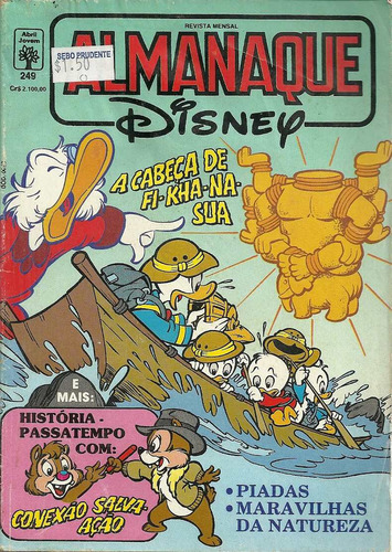 Almanaque Disney 249 - Abril - Bonellihq Cx212 N20 Original