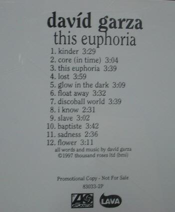Cd  Davíd  Garza  -  Euphoria    -  Importado  -  B79 Original