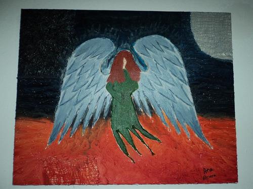 Pintura Com Textura  Anjo Original