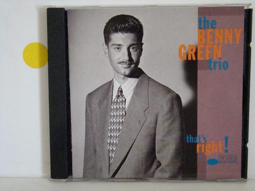 Cd - Benny Green - That´s Right - Importado Original