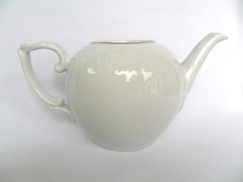 Bule Antigo Decorativo Porcelana Branca Bratriz Natal Leia Original