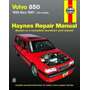 Manual Haynes De Volvo 850 Modelos De 1992 A 1997 Sedan E Sw