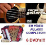 Aulas De Acordeon Guitarra Violão Em 6 Dvds Ed