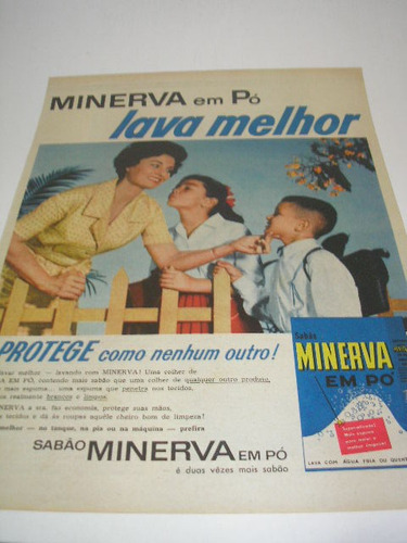 L  290/ Gloz20  Propaganda Antiga Sabão Em Pó Minerva Original