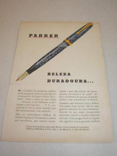 L - 290/ Pup80 Propaganda Antiga Caneta Parker Original