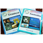 França Australia Livro Guia Cartão Postal Guia De Visita
