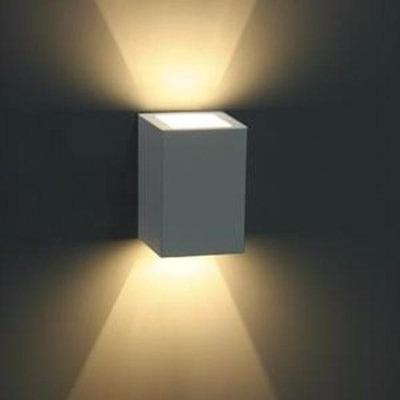 Arandela Parede Externa Facho Aluminio Branco 15100 + Led 3w em Tijucas