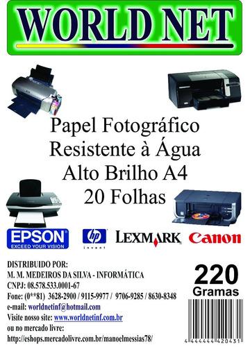 80 Folhas Papel Fotografico A4 220grs Original