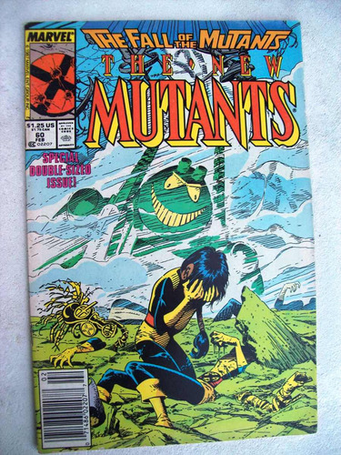 The New Mutants Nº 60 - The Fall Of The Mutants - 1988 Original