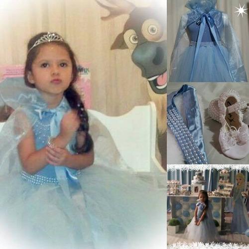 Fantasia Frozen Princesa Elsa Com Sapatilha Bailarina!!! Original