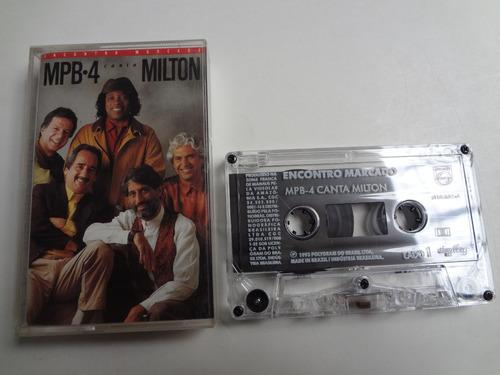 Fita Cassete Encontro Marcado Mpb-4 Canta Milton Original