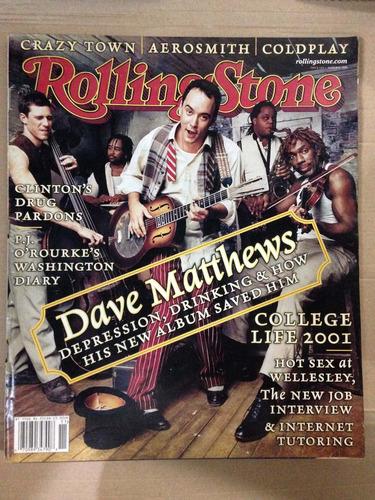 Revista Rolling Stone Americana Dave Matthews Aerosmith Original