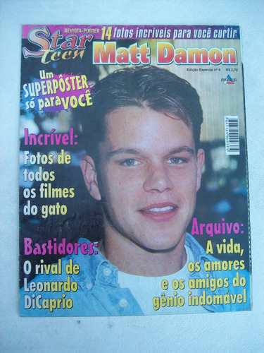 Revista-poster Star Teen Nº 4: Matt Damon Original