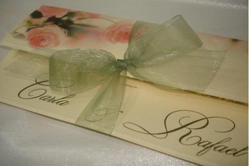 Convite Casamento Floral Rosas
