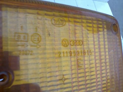 1 Pisca Diant Kombi 76/2013 Orig Vw Arteb Logo Vw Na Lente Original