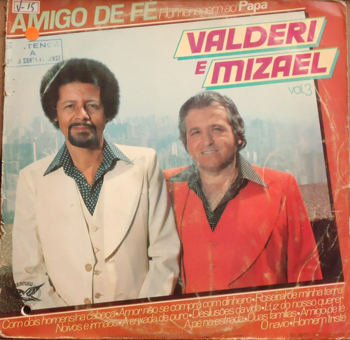 Lp (027) Sertanejo - Valderi & Mizael Vol. 3 Original