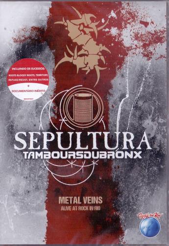 Dvd Sepultura - Metal Veins Alive At Rock In Rio Original